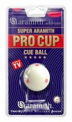 Aramith Pro Cup 2 1/4 Inch 6 Dot American Cue Ball