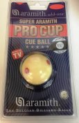 Aramith Pro Cup 1 7/8 Inch UK Size 6 Dot Cue Ball