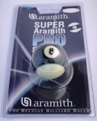 Aramith Striped Black Ball 2 Inch UK Size