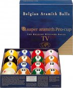 Aramith Pro Cup TV Ball Set 2 1/4 Inch American Size Set