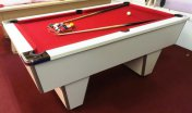 Quick Delivery - 7ft Club Pool Table White Cabinet