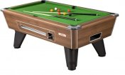 Supreme Winner Walnut Coin Operated Slate Bed Pool Table