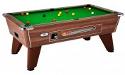 DPT Omega 2.0 Dark Walnut Coin Operated Slate Bed Pool Table