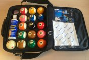 Aramith Pro Cup TV American 2 1/4 Inch Ball Set and Case