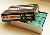 Billiard Pro Pool Chalk - 12 Cubes in Green, Red or Blue