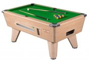 Supreme Winner Oak Coin Operated Slate Bed Pool Table