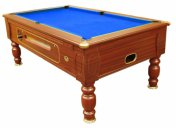 Optima Dark Walnut Coin Operated Slate Bed Pool Table