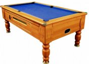 Optima Walnut Coin Operated Slate Bed Pool Table