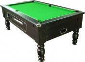 Optima Black Coin Operated Slate Bed Pool Table