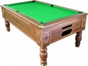 Optima Domestic Dark Walnut Slate Bed Pool Table