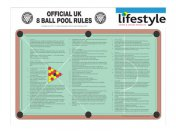 Pool Table Rules UK Pool Rules Sheet