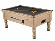 Supreme Prince Oak Coin Operated Slate Bed Pool Table