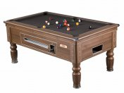 Supreme Prince Walnut Coin Operated Slate Bed Pool Table