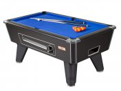 Supreme Winner Black Coin Operated Slate Bed Pool Table