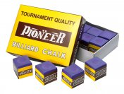 Pioneer Pool Cue Chalk 12 Cubes - Blue, Green, Red