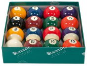 Aramith Pool Balls UK 2 Inch Spots and Stripes Set