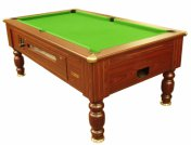 Optima Richmond Dark Walnut Coin Operated Slate Bed Pool Table