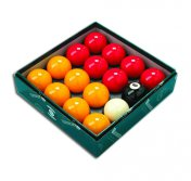 Aramith Pool Ball Set UK Red & Yellows Set