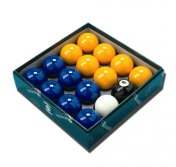 Aramith Pool Balls Blue and Yellow UK Set