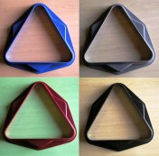 Pool Ball Triangle 2 Inch UK Size - Black, Red, Grey or Blue