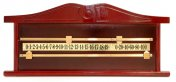 Snooker Scoreboard Mahogany for 2 or 4 Players