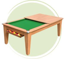 Classic Pool Dining Table with Ball Drawer