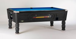 SAM Balmoral Black Coin Operated Slate Bed Pool Table