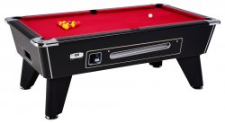 DPT Omega Pro Black Coin Operated Slate Bed Pool Table
