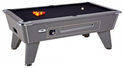 DPT Omega Pro Onyx Grey Coin Operated Slate Bed Pool Table
