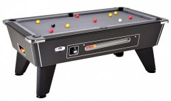 DPT Omega 2.0 Black Coin Operated Slate Bed Pool Table