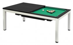 Dynamic Vancouver 7ft Dark Ebony American Pool Dining Table