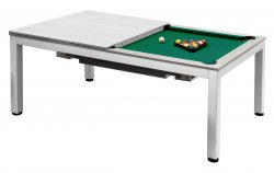 Dynamic Vancouver 7ft Matt White American Pool Dining Table