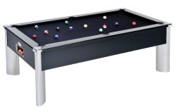 DPT Monarch Fusion Black Slate Bed Pool Table