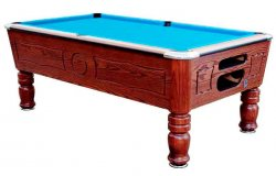 SAM Balmoral Oak Coin Operated Slate Bed Pool Table