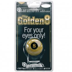 Aramith Pool Ball, Golden 8 American Size