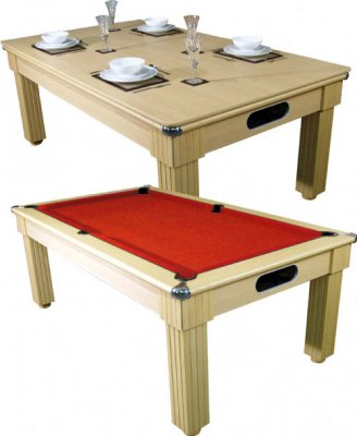 Optima Pool Dining Table in a Light Oak Finish