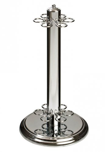 Chrome Finish Free Standing Cue Rack for 6 Cues