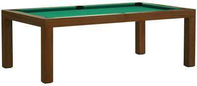 Dynamic Mozart 7ft Mahogany Table with STANDARD yellow/Green Cloth