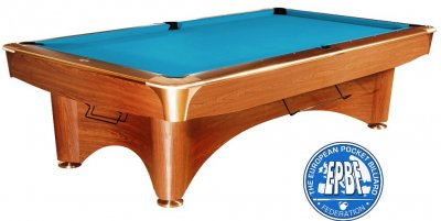 Dynamic 3 Brown Table with Tournament Blue Cloth