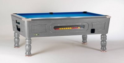 Sam Balmoral Silver Coin Operated Pool Table