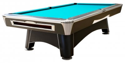 Dynamic Hurricane Pool Table in Black - Fitted with STANDARD Blue/Green cloth