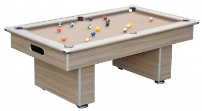 Gatley Classic Driftwood Pool Table with Taupe Cloth