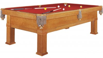 Dynamic Bern Oak Pool Table - Fitted with STANDARD Red Cloth