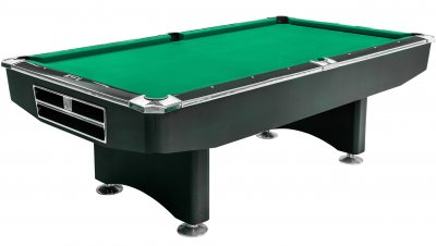 Dynamic Competition 9ft Black Table with STANDARD Yellow Green Cloth