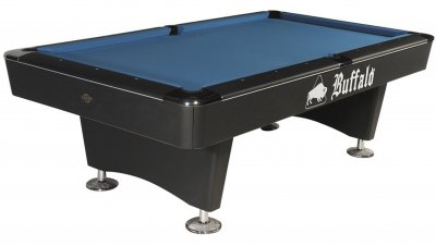 Buffalo Dominator Slate Bed Pool Table - Black Cabinet Finish