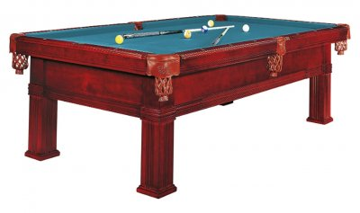 Dynamic Bern Mahogany Pool Table - Fitted with STANDARD Electric Blue Cloth