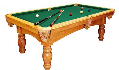 Dynamic Kiev Pool Table in Oak - Fitted with STANDARD Yellow Green Cloth