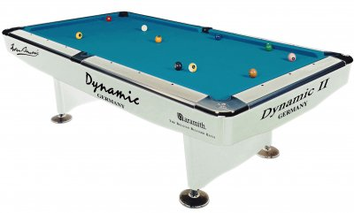 Dynamic 2 White 7ft American Pool Table - Tournament Blue Cloth