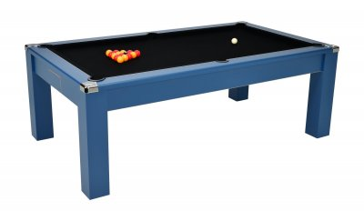 DPT Avant Garde 2.0 Midnight Blue Pool Dining Table with Black Cloth