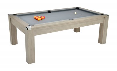 DPT Avant Garde 2.0 Grey Oak Pool Dining Table with Grey Cloth